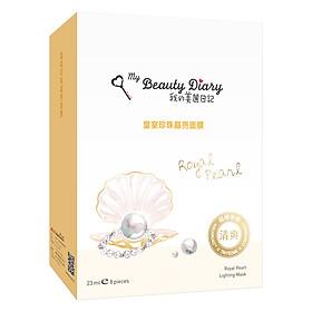 Mặt Nạ Ngọc Trai Trắng Hoàng Gia My Beauty Diary Royal Pearl Radiance Mask (8 Miếng / Hộp)