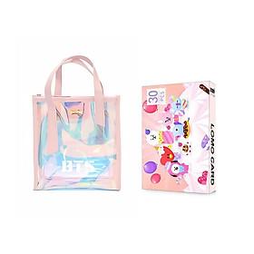 Combo 2 món đồ gồm túi xách hologram bTS và lomo BTS CHIBI quà tặng xinh xắn