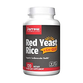 Jarrow Formulas Complementary Red Yeast Rice (600 mg)+ Co-Q10 Formula (50 mg), 120 Count