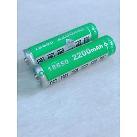Combo 2 Pin lithium dung lượng 2200mah sạc lại 3.7V - hàng nhập khẩu