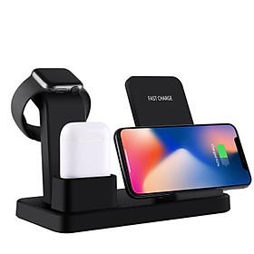 Đế Sạc Không Dây Đa Chức Năng Cho Apple Watch & Iphone & AirPods US02- Hàng chính hãng