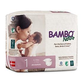 Combo 3 gói Tã Dán Em Bé Hữu Cơ Bambo Nature - gốc Đan Mạch - 2-5kg - NB28 - 28 miếng-1