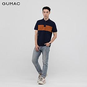 Áo thun polo nam phối màu GUMAC đủ màu, đủ size, phong cách năng động, trẻ trung ATNB1186