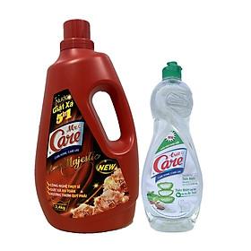 Nước giặt xả 5in1 Mr.Care hương Majestic 2.4kg + Tặng 1 chai nước rửa chén TrueCare Thiên nhiên 750g