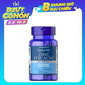 Thực Phẩm Chức Năng - Viên Uống Kẽm Hỗ Trợ Trị Mụn Puritan'S Pride Premium Zinc For Acne 2580 (100 Viên)