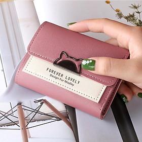 Ví nữ gấp 3 mini MADLEY dễ thương nhỏ gọn bỏ túi cao cấp nhiều ngăn đựng tiền giá rẻ LUKAMO VD337