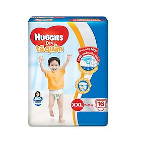 Tã Quần Huggies Dry Gói Trung XXL16 (16 Miếng) - Bao bì mới