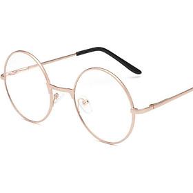 Men Large Oversized Metal Frame Clear Lens Round Circle Eye Glasses Nerd Fashion