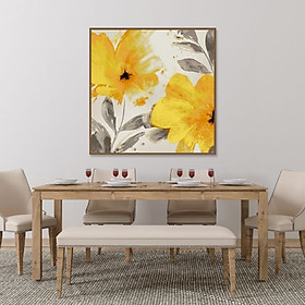 Tranh Canvas Hoa Vàng Trang Trí Treo Tường