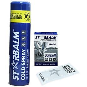 [Combo 2 in 1] 1 Chai Xịt Lạnh Starbalm Cold Spray 150ml + 1 Hộp 2 Túi Làm Lạnh Khẩn Cấp STARBALM COLD PACKS