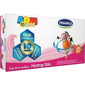 Thùng 48 Hộp Sữa Dinh Dưỡng Vinamilk Adm Gold Hương Dâu  (110ml / Hộp)