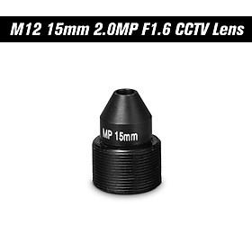 "HD 2.0 Megapixel Pinhole Lens M12 CCTV MTV Board 15mm Lens 1/2.7"" Aperture F1.6 28.3 Degree for Security Cameras"