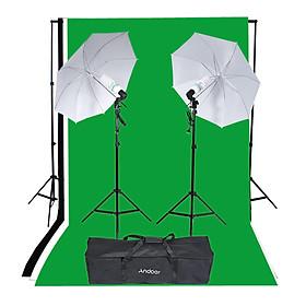 Bộ Dụng Cụ Chụp Ảnh Andoer Gồm 2 Đèn Chiếu Sáng Phong Nền Và Bóng Đèn (2x135W)