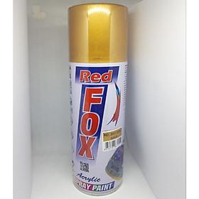 Sơn xịt màu nhũ vàng, màu vàng đồng - Red Fox #351 (#228) -Nhập khẩu Thái Lan