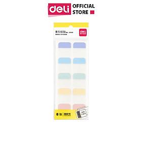 Giấy phân trang đánh dấu trang nhiều màu pastel Deli - Cỡ 28x25mm - 21535