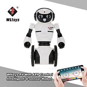 Robot Thông Minh Wltoys Cảm Biến Điều Khiển Bằng Ứng Dụng F4 0.3MP Camera Wifi FPV Cho Trẻ - Trắng