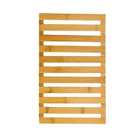 Giá kệ gỗ trang trí treo cây cảnh và đồ vật treo ban công ngoài trời hoặc trong nhà bằng gỗ Tre - Chống cong vênh,mối mọt