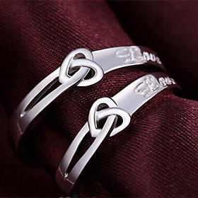 Nhẫn đôi bạc LOVE - Trang sức BẠC Panmila (ND.A6.B)