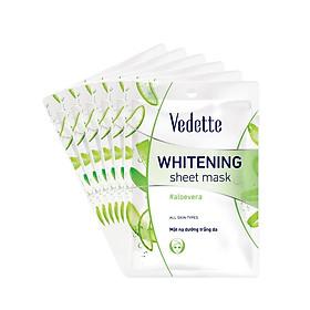 Combo 6 Mặt Nạ Trắng Hồng Tự Nhiên Vedette Whitening Sheet Mask Set (Aloe Vera) 22mlx6