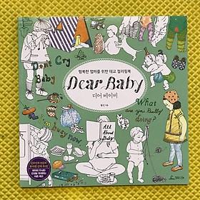 Postcard tô màu Dear Baby loại 96 trang 25cmx25cm GIẤY DÀY - Tranh tô màu dành cho người lớn