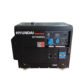Máy phát điện Hyundai chạy dầu 5.5Kw vỏ chống ồn (đề nổ)
