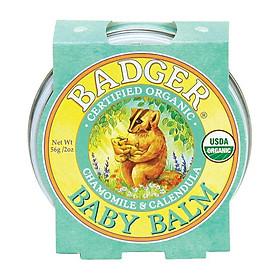 Sáp Hữu Cơ Dưỡng Da Cho Bé Badger Baby Balm - Dưỡng ẩm và bảo vệ da bé, chứng nhận USDA Organic - 2oz (56g)