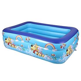 Bể bơi phao cho bé swimming poll KT 130x85x53(cm) (tặng kèm 1 lọ keo và 2 miếng dán) - Không kèm bơm điện