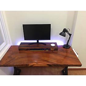 Bàn gỗ me tây tự nhiên ( Dài 120 cm rộng 55 cm dày 3 cm) + Gía đỡ máy tính
