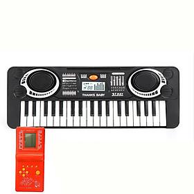 Đàn organ 37 phím tặng kèm đồ chơi điện tử cổ điển 4 nút