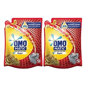Combo Nước Giặt OMO Matic Comfort Tinh Dầu Thơm Cho Máy Giặt Cửa Trên (2.3kg/Túi)