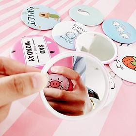 Gương tròn mini, gương cầm tay nhiều hình dễ thương