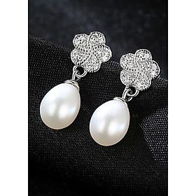 Bông Tai Ngọc Trai Cao Cấp B2347 Cỡ Hạt 7x10 Ly Bảo Ngọc Jewelry