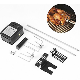 Easy Install Meat Forks Tools Stainless Steel Camping Household Cooking BBQ Motor Set Electric Automatic Rotisserie Spit