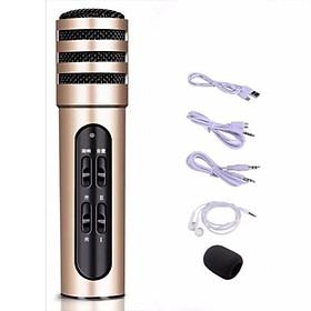 Micro Livestream C7 , tặng tai nghe ,Thu Âm Hát Karaoke Livestream 3 in 1 ( giao màu ngẫu nhiên )