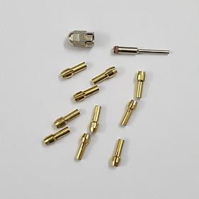 10 đầu đồng và 1 ốc xiết cho máy máy khoan mai khắc mini cầm tay (đầu đầu đồng + 1 ốc văn xiết + 1 trục)