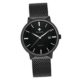 Men's Quartz Watch Casual Business Dress Wristwatch Waterproof 3ATM - Metal Mesh Strap Watch for Boys Gifts