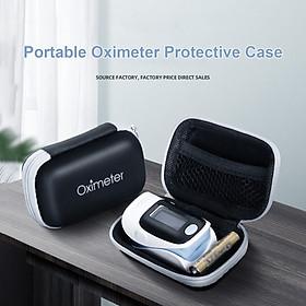 Portable Oximeter Protective Case Multipurpose Waterproof Zipper Storage Bag EVA Fingertip Pulse Oximeter Organizer