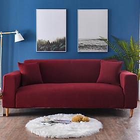 Bộ Bọc Ghế Sofa Đơn/ Đôi/ Ba/ Bốn Chỗ Ngồi bằng chất liệu poly spandex dày dặn co giãn 4 chiều Marytexco màu trơn cổ điển thanh lịch - Tặng kèm 1 vỏ gối freesize
