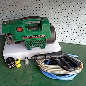 máy phun xịt rửa xe sakura 2500W tiết kiệm nước 9 lít/phút giao màu ngẫu nhiên