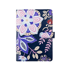 A6 Notebook Budget Binder Diary Agenda PU Leather Loose-Leaf Folder Planner Travel Journal Diary 80 Sheet Gift for