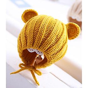 Mũ len đáng yêu tai gấu cho bé đáng yêu