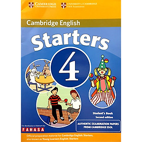Cambridge Young Learner English Test Starters 4: Student Book