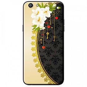 Ốp lưng dành cho Oppo A71 mẫu Hoa trắng vàng đen