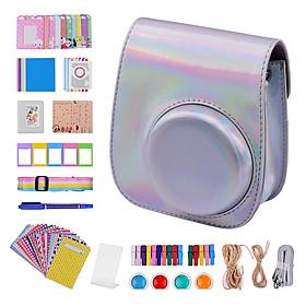 Bộ vỏ máy ảnh Fujifilm Instax 11 với 12 phụ kiện đi kèm bao gồm túi máy ảnh/ dây đeo/ bọc hình màu sắc