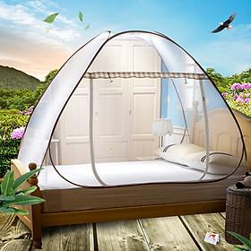 Arctic velvet Bejirog mosquito net free installation folding wire nets encryption simple installation 1.2 m bed