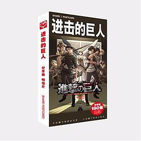 Postcard Attack On Titan hộp ảnh bộ ảnh có ảnh dán sticker lomo bưu thiếp tặng ảnh thiết kế Vcone