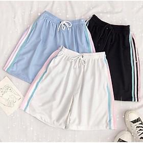 Quần Shorts 3 Sọc Nhiều Màu Unisex, Quần Đùi Nữ Thể Thao