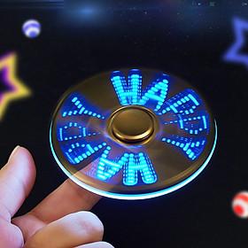 Bật Lửa Hột Quẹt  Kiêm Đèn Pin Chiếu Sáng  và  Con Quay Spinner Chạy Chữ HAPPY, ILOVEYOU(màu ngẫu nhiên) - 18 Hiệu Ứng Siêu Ngầu
