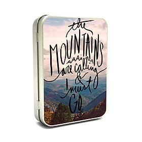 Hộp thiếc Vintage Box - The mountain are calling