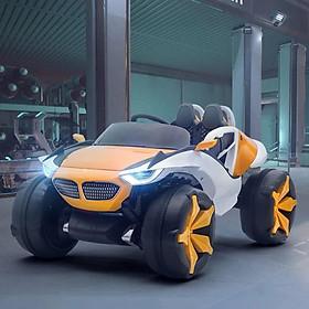Ô tô xe điện mẫu địa hình khủng XJL 688 đồ chơi cho bé 4 động cơ 12V/7A 2 ghế